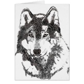 Mexican Grey Wolf Card