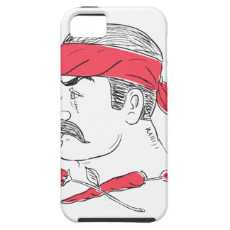 Mexican Guy Cigar Hot Chili Rose Drawing iPhone 5 Cases