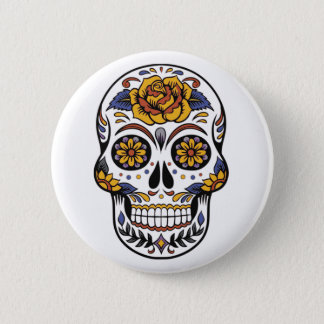 Mexican Halloween Mask Pin Button