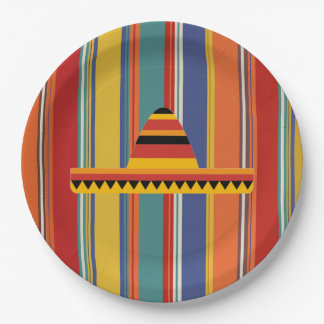Mexican Hat Dance HHM Party Paper Plates 9 Inch Paper Plate