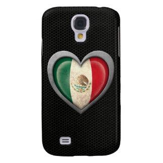 Mexican Heart Flag Steel Mesh Effect