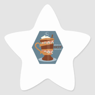 Mexican Hot Chocolate Star Sticker