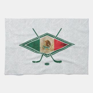 Mexican Ice Hockey Flag Tea Towels