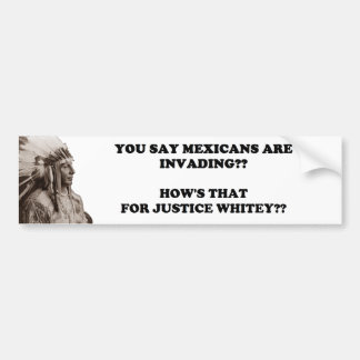 Mexican Invasion Bumper Sticker