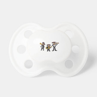 Mexican Mariachi Band Cartoon Illustration Pacifiers
