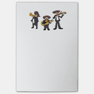 Mexican Mariachi Band Cartoon Ilustration Post-it Notes