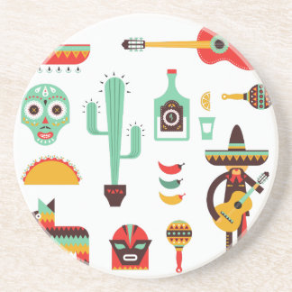 mexican mariachi coasters
