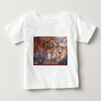 Mexican mural art baby T-Shirt