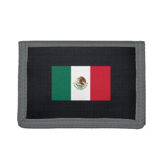 Mexican National flag of Mexico-01.png Trifold Wallet