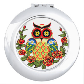 Mexican owlet travel mirror