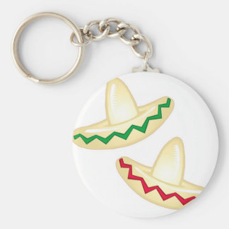 Mexican Party Icons Basic Round Button Keychain