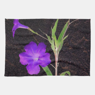 Mexican Petunia Purple Kitchen Towel