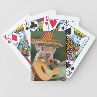 mexican pig - pig guitar - funny pig bicycle playing cards