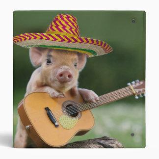 mexican pig - pig guitar - funny pig binder