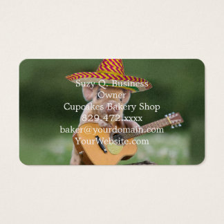 mexican pig - pig guitar - funny pig business card