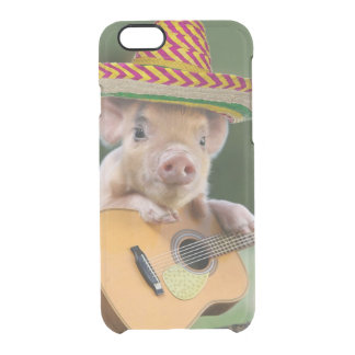 mexican pig - pig guitar - funny pig clear iPhone 6/6S case