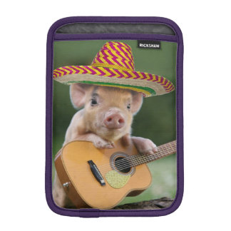 mexican pig - pig guitar - funny pig iPad mini sleeve