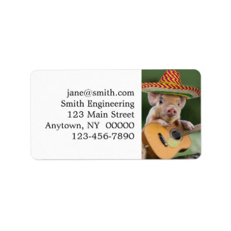 mexican pig - pig guitar - funny pig label