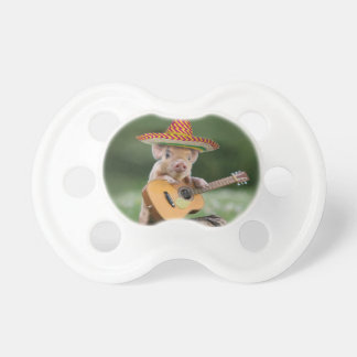 mexican pig - pig guitar - funny pig pacifier