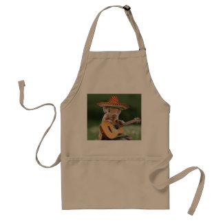 mexican pig - pig guitar - funny pig standard apron
