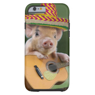 mexican pig - pig guitar - funny pig tough iPhone 6 case