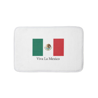 Mexican pride Flag Viva la Mexico Bathroom Mat