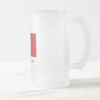 Mexican pride Flag Viva la Mexico Frosted Glass Beer Mug