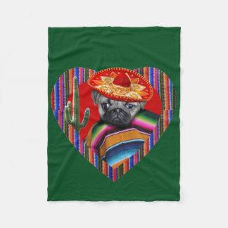 Mexican Pug Dog Fleece blanket