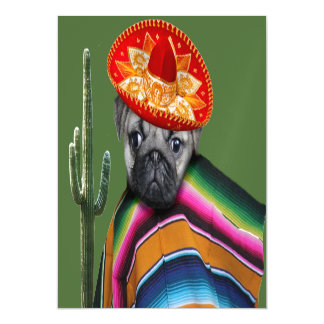 Mexican Pug Dog magnetic card Magnetic Invitations