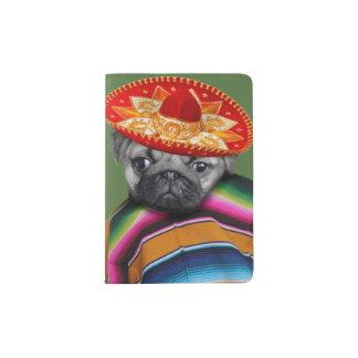 Mexican pug dog passport holder