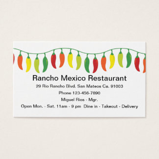 Mexican Restaurant Design Business Card