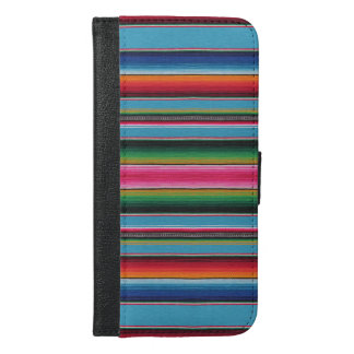 Mexican Serape Blanket Device Case  Baby Blue