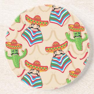 Mexican siesta beverage coasters