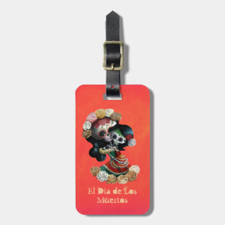 Mexican Skeleton Motherly Love Luggage Tag