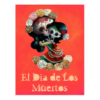 Mexican Skeleton Motherly Love Postcard