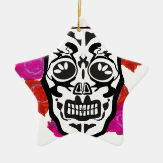Mexican Skull Ceramic Ornament