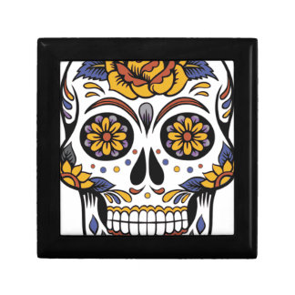 Mexican skull day of the dead gift box