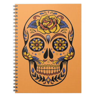 Mexican skull day of the dead notebook