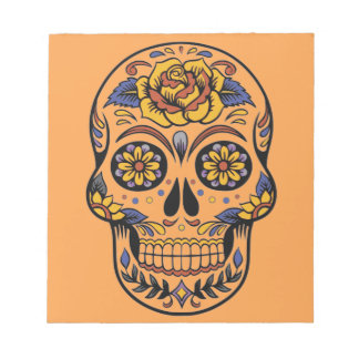 Mexican skull day of the dead notepad