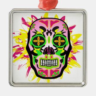 Mexican Skull Metal Ornament