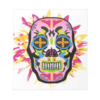 Mexican Skull Notepad