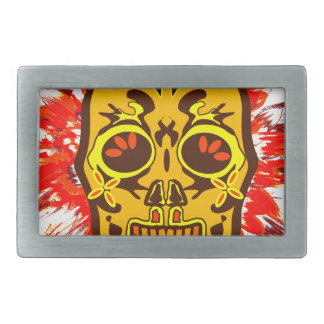 Mexican Skull Rectangular Belt Buckles