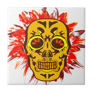 Mexican Skull Tile