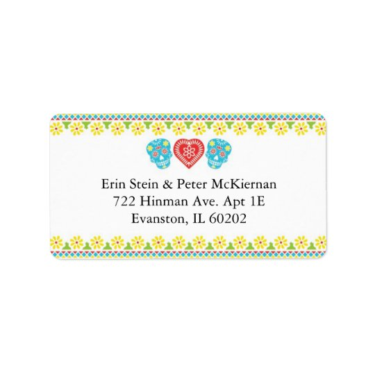 Mexican Skulls Return Address Label