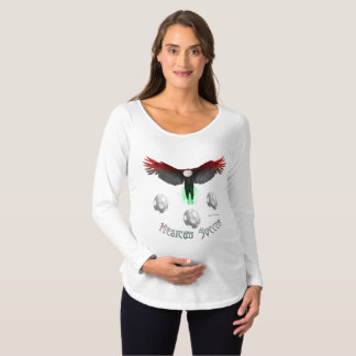 Mexican Soccer Eagle Maternity Long Sleeve Shirt