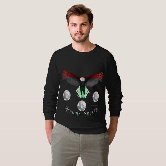 Mexican Soccer Eagle Men's Raglan Sweatshirt