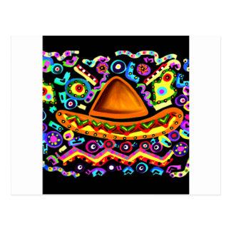 Mexican Sombrero Postcard