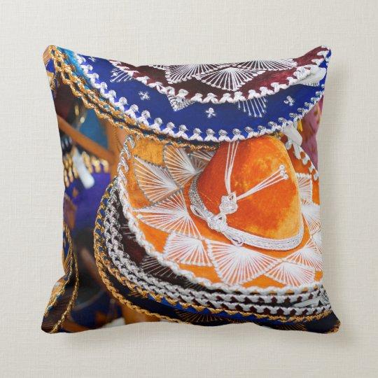 Mexican sombrero throw pillow