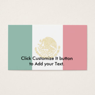 Mexican States, Mexico flag Business Card