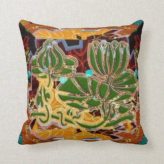 Mexican Style  Lily Pad Throw Pillow